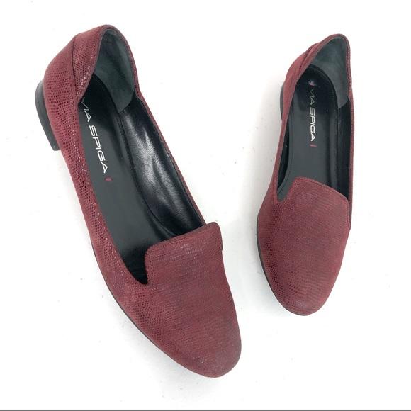Via Spiga Shoes - Via Spiga Slip on Sandals Red Size 5.5M